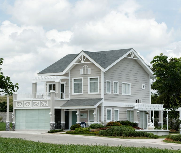 A wide shot showcasing the area around the Audrey house model in Augusta Sta. Rosa | Luxury Homes by Brittany Corporation