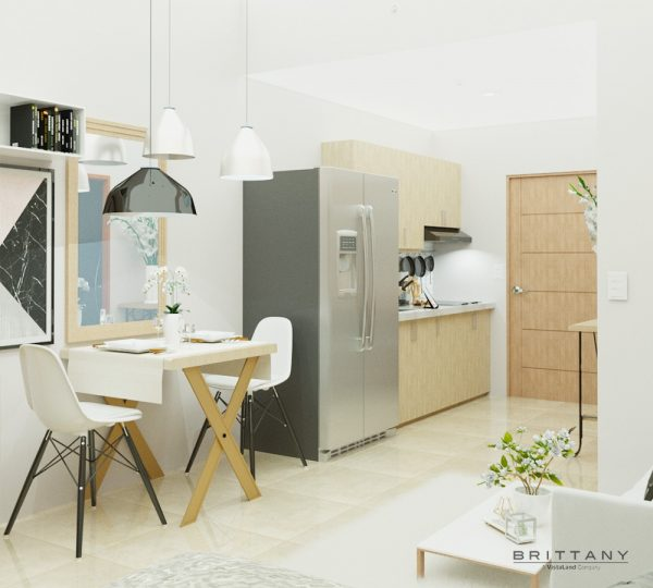 Studio Unit with Balcony Interior Dining and Kitchen | Crosswinds Tagaytay | Alpine VIllas | Luxury Homes by Brittany Corporation