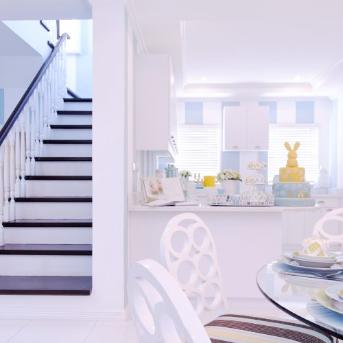 Allison Ready Home Dining Area, Kitchen, and Staircase   Brittany Sta. Rosa   Augusta   Luxury Homes by Brittany Corporation