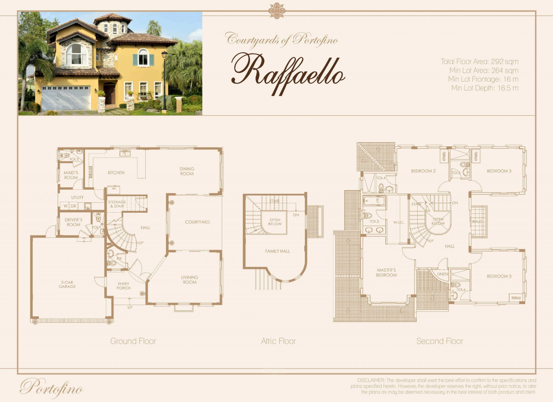 Vista Alabang | Portofino South | Rafaello House Model Floor Plan | Luxury Homes by Brittany Corporation