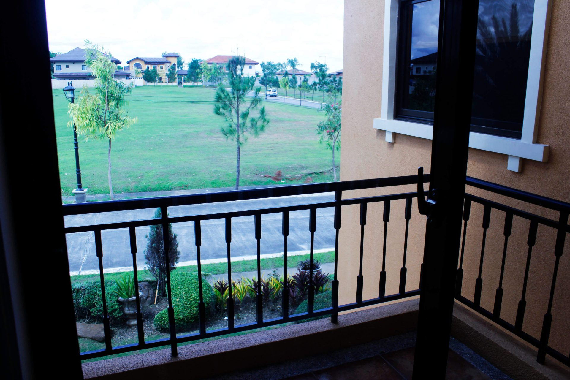 Vista Alabang | Portofino Heights | Rafaello House Model Balcony View from Indoors | Luxury Homes by Brittany Corporation
