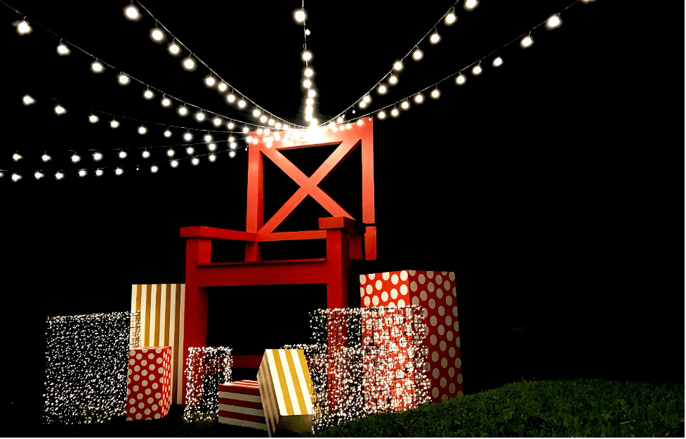 Throne Giant Chair Christmas at Crosswinds Tagaytay