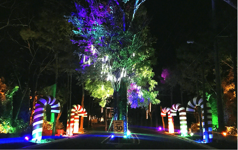 Lucent Stone Pillars Christmas at Crosswinds Tagaytay