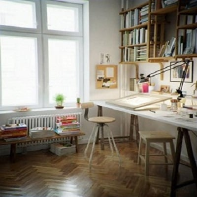 Brittany-Creative-Ways-to-Set-Up-Your-Own-Art-Studio-At-Home-1