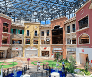 Evia Lifestyle Center Mall atrium and activity center near luxury house and lot properties in Portofino Vista Alabang - Luxury homes by Brittany Corporation