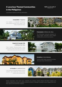 collage of luxury residential developments in the Philippines | luxury homes by brittany corporation
