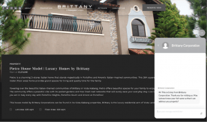 Brittany Corporation official website equipped with 24-7 chatbox inquiry feature - Luxury Homes by Brittany