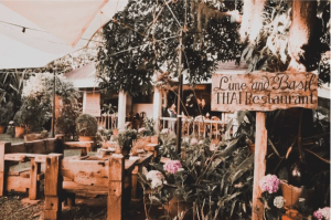 Lime and Basil Best Restaurant in Cavite has a rustic garden ambiance with outdoor dining near neighboring luxury house and lot properties | Luxury Homes by Brittany