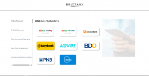 Pay Now feature of Brittany's official website features online payment options with bank partners when you buy real estate online - Luxury Homes by Brittany