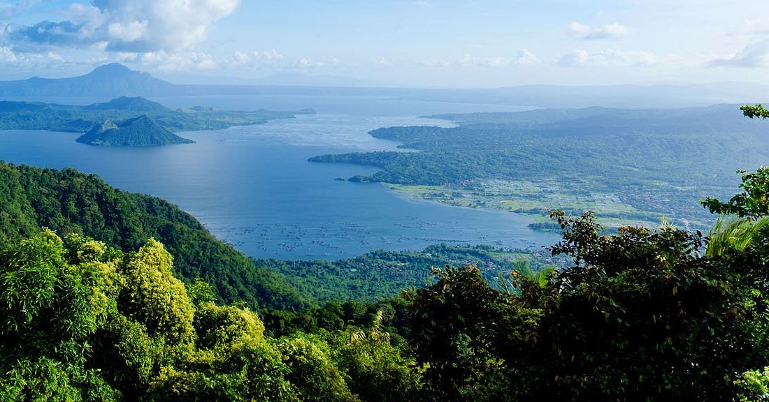 View of Taal Volcano in Tagaytay City one of the top vacation destinations in the country near luxury real estate property of Crosswinds Tagaytay - Luxury Homes by Brittany Corporation