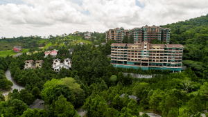 An aerial image showing the area around The Grand Quartier in Crosswinds Tagaytay | Luxury Homes by Brittany Corporation
