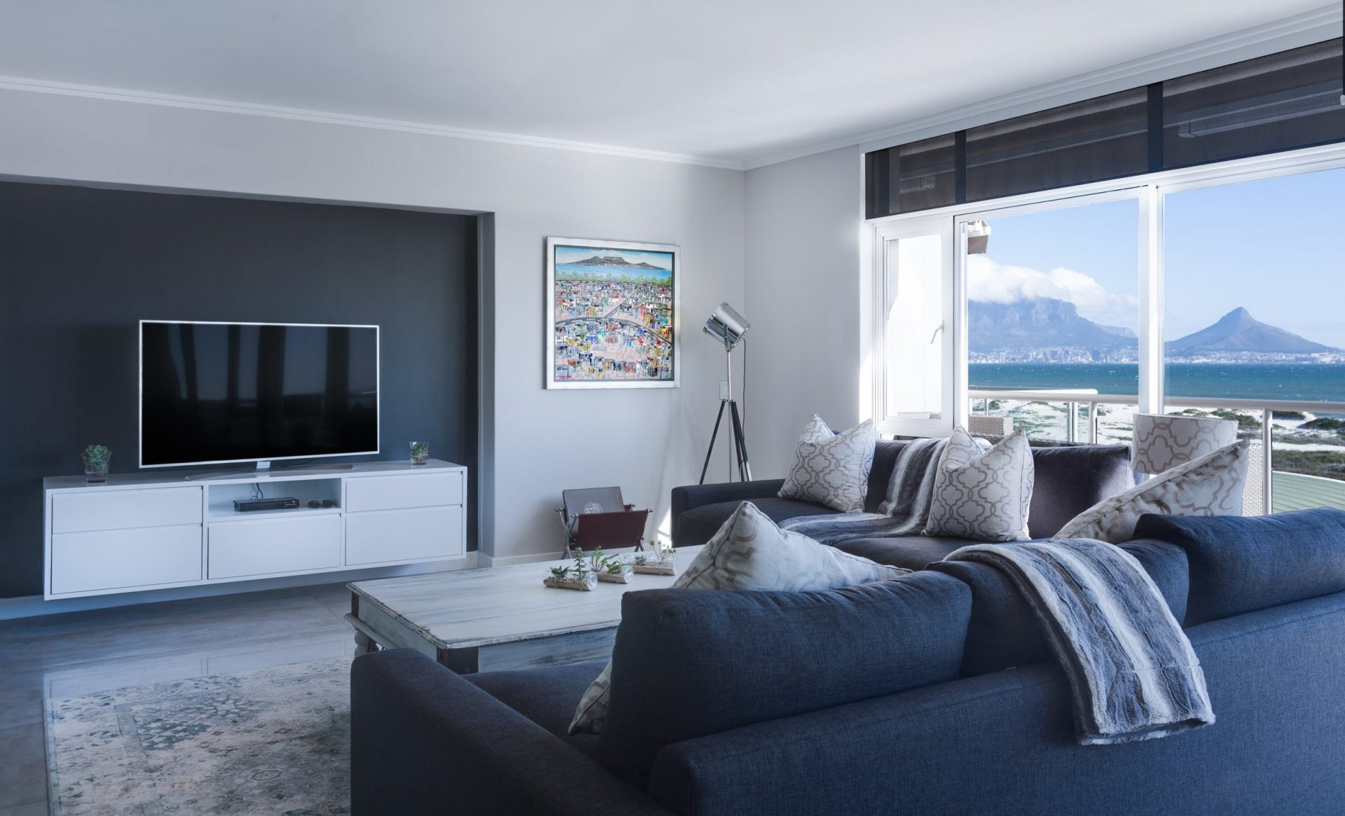 A modern living room of a luxury home in the Philippines | Luxury Homes by Brittany Corporation
