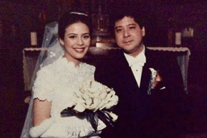 Filipino actors Dawn Zulueta and Anton Lagdameo on their wedding day in 1997, making them one of the longest lasting high-profile marriages in the Philippines | Luxury Homes by Brittany Corporation