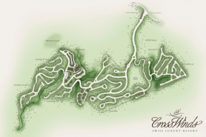 Site development map of Crosswinds Tagaytay - Luxury Homes by Brittany