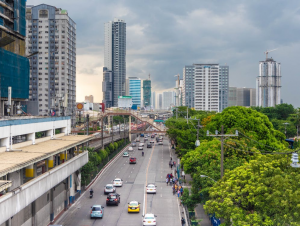 The skyline of Metro Manila during the afternoon