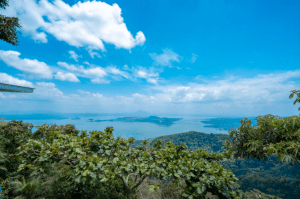 View of Taal Lake near luxury house and lot development in Crosswinds - Luxury homes in the Philippines
