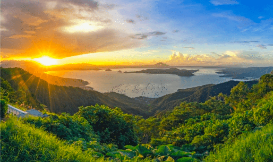 A beautiful view of the Taal Lake from Brittany Corporations Crosswinds
