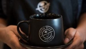 A fresh cup of Coffee Bean and Tea Leaf in one of the most well known cafe shops in the world
