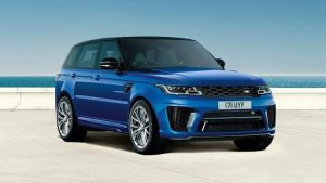 Blue Range Rover Sport by Land Rover Luxury Cars Brittany Corporation