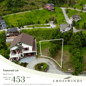 Featured luxury ready lots are one of the best residential property investments one can make in Crosswinds Tagaytay | Brittany Corporation
