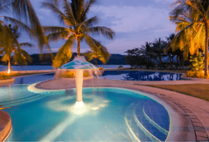 Luxury swimming pool at Club Punta Fuego - Vacation Spots in the Philippines - Brittany Corporation