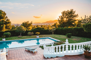 Portofino outdoor spaces and luxury pool amenities - House and lot in Daang Hari - Luxury homes for sale - Brittany Corporation