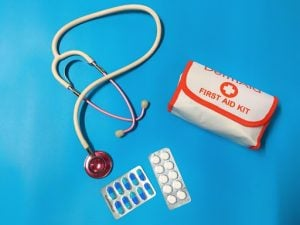 Stethoscope medicine pain relievers and first aid kit are important whether you are in a luxury home or not | Brittany Corporation