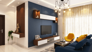 The cozy living room of the studio unit of a luxury condominium in the Philippines | Brittany Corporation