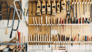 Tool shed with a variety of tools needed for every home | Brittany Corporation