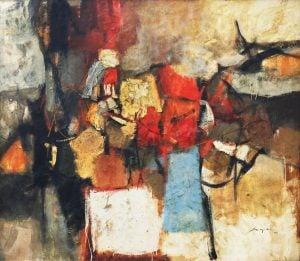 "Jose Joya (1931-1995) ""Space Transfiguration"" Filipino painting"