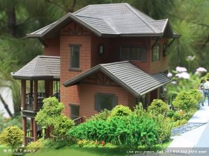 House model of European luxury house.