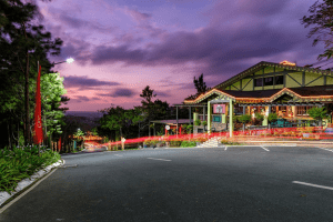 Cafe voila at night in crosswinds tagaytay   Luxury homes by brittany corporation