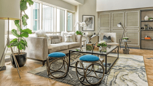 Luxury living room interior with high-class European furniture and modern white structure.   luxury homes by brittany corporation