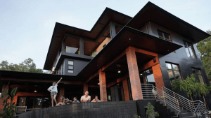Black luxury mansion with pool of Filipino celebrities   luxury homes by Brittany Corporation