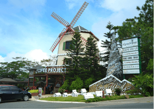 Coffee Project Windmill near Luxury houses and lots in Crosswinds Tagayaty | Luxury Homes by Brittany Corporation