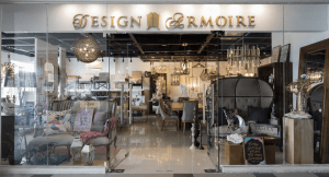 The storefront of Design Armoire | Luxury Homes by Brittany Corporation