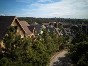 Row of Swiss-inspired luxury homes for sale at Crosswinds Tagaytay - Luxury Lots for Sale at Lausanne - Brittany Corporation