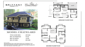 The floor plan of Chatelard | Luxury Homes by Brittany Corporation