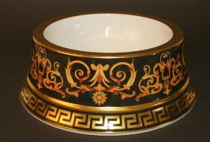 2.Gianni Versace's Barocco Pet Bowl for food and water | luxury lifestyle and homes by brittany corporation