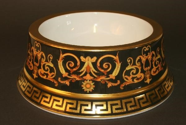2. Gianni Versace's Barocco Pet Bowl for food and water | luxury lifestyle and homes by brittany corporation