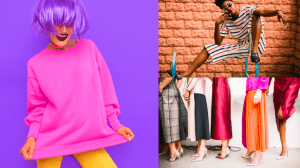 Bright colorful fashion pieces put together different style tips - Brittany Corporation