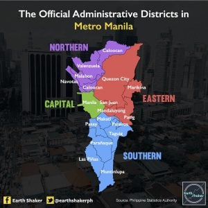 Official administrative districts in Metro Manila | Luxury Homes by Brittany Corporation