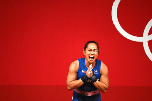 Weighlifting gold Olympic medalist Hidilyn Diaz at the 2020 Tokyo Olympics | luxury homes by brittany corporation