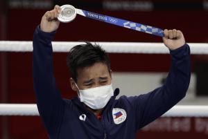 silver Olympic medalist Nesthy Petecio at 2020 Tokyo Olympics