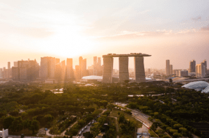 Photo of the best architecture hotels with sunset viewing in one of the most visited cities to travel in Singapore - Brittany Corporation - Scenic Destinations around the world
