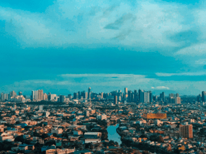 Photo of the busy city and view of house and lot, communities, and real estate developments for sale in Manila Philippines - Brittany Corporation - Scenic Destinations around the world
