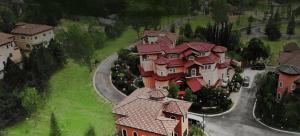 Portofino Aerial shot of luxury houses and lots for sale - Portofino Virtual Tour - Luxury Homes for Sale