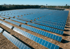 Solar panels outdoors to collect sunlight energy for solar powered luxury house and lot in the philippines - Brittany Corporation