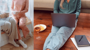 Staying inside luxury homes while wearing understated pajamas - Brittany Corporation