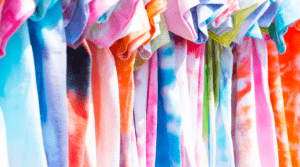 Style tips include the trendy tie-dyed shirts with colorful designs that you can easily make in your luxury home as a project - Brittany Corporation